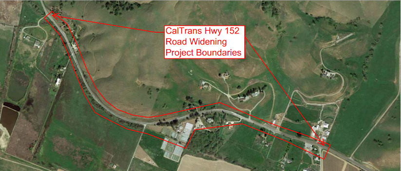 Areal Map for Hwy 152